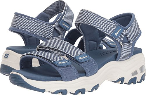 Skechers D'Lites Cross Breeze Womens River Sandals Blue 8 - Breeze Womens Sandals