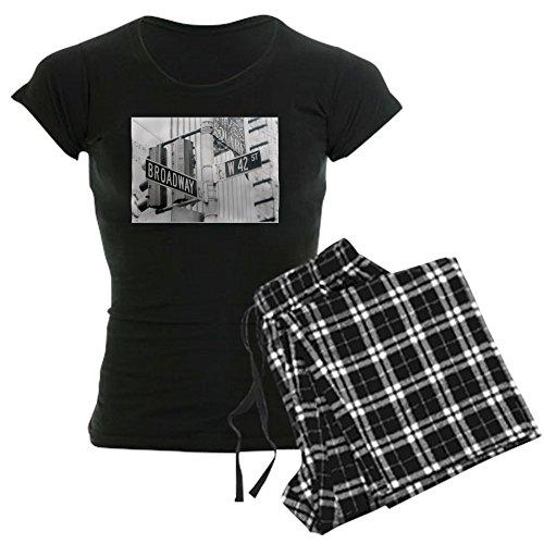CafePress NY Broadway Times Square - Women's Dark Pajamas Womens Novelty Cotton Pajama Set, Comfortable PJ Sleepwear