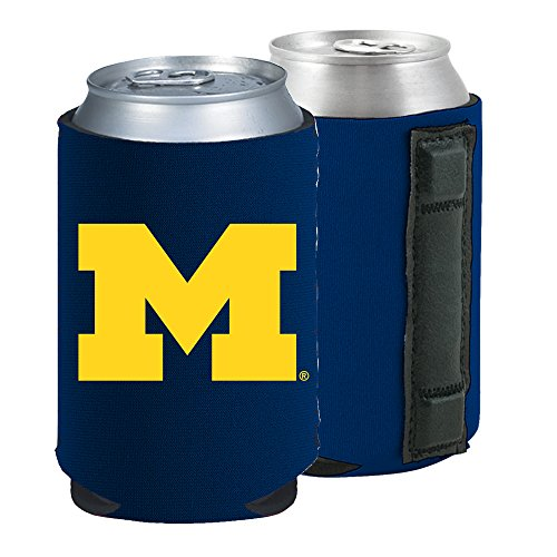 Michigan Wolverines Ncaa Collapsible - Magnetic Kolder Kaddy NCAA Can Cooler Coolie, One Piece (Michigan Wolverines)