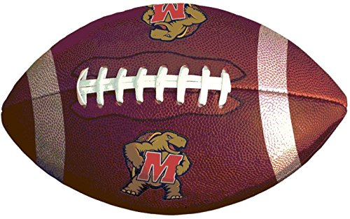 9 inch University of Maryland Football Terps UM Terrapins Logo Removable Wall Decal Sticker Art NCAA Home Room Decor 9 by 5 1/2 inches