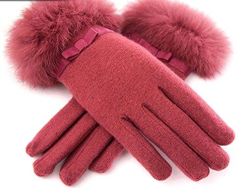拒絶素晴らしいですこどもセンター美 シルエット 手袋 レディース ファー ウール 暖か