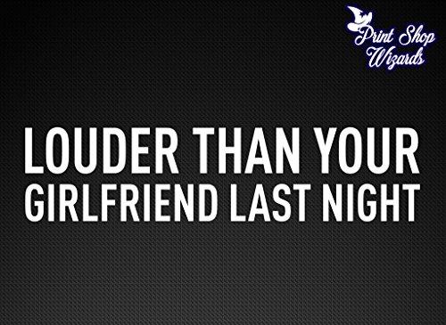 Acura Mufflers - Louder Than Your Girlfriend Last Night JDM Car Decal Sticker Vinyl Muscle Car VTEC