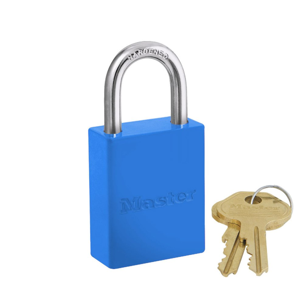 Lockout Padlock, KA, Blue, 1-15/16''H