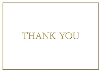 caspari thank you gold embossed christmas thank you notes 8 pack