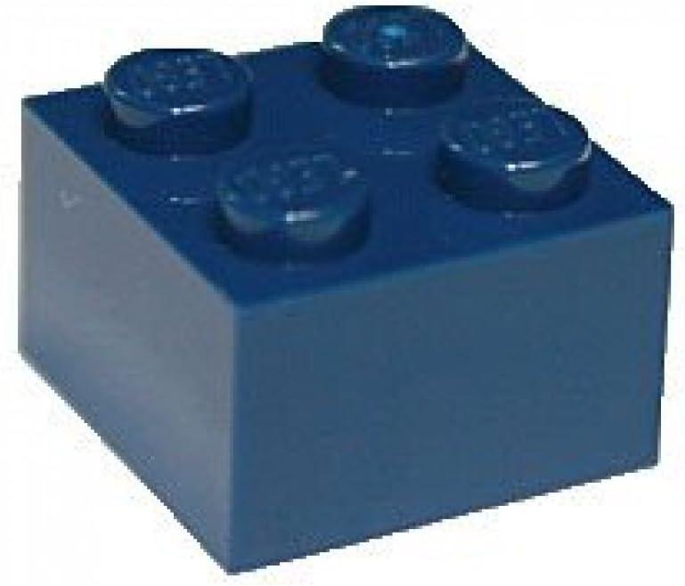 LEGO Parts and Pieces: 2x2 Dark Blue (Earth Blue) Brick x20