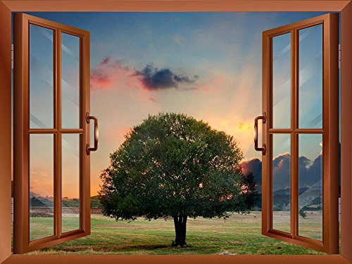 Tree in Sunset Removable Wall Sticker Wall Mural