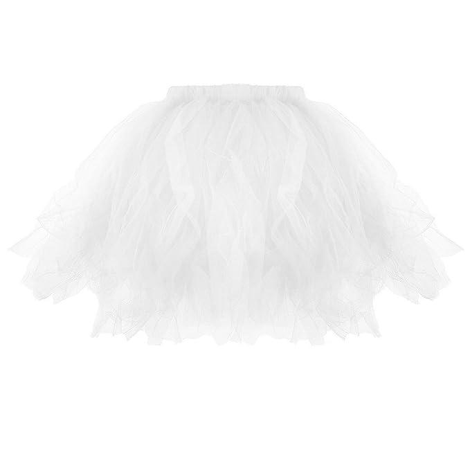 Falda Tutú de Gasa para Mujer Dwevkeful Faldas de Ballet Cinturón Elástico Sólido Vestido de Fiesta de Noche Falda de Gala Vestir Faldas Skirt Dress Ropa ...