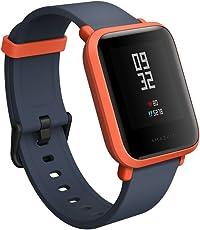 Xiaomi amazfit bip Smartwatch con GPS en tiempo real monitor de frecuencia cardíaca resistente al agua deportes Fitness Rastreador apoyo IOS y Android para niños hombre mujer/US versión, Cinnabar, rojo
