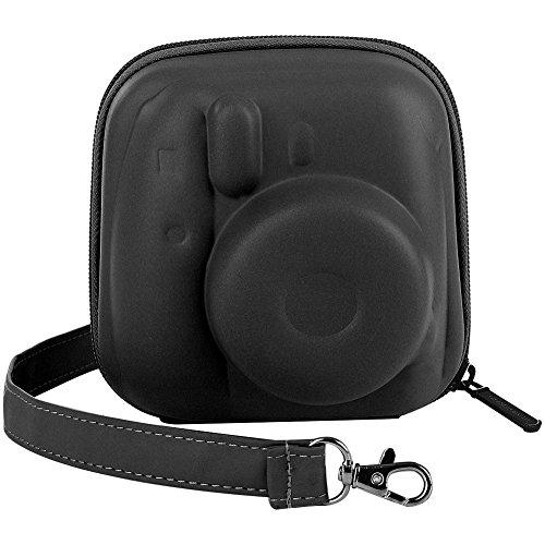 Katia Hard Case EVA Bag for Fujifilm Instax Mini 9/8 Instant Camera, with Shoulder Strap and Pocket for Photo Films Accessories/Selfie Lens/Battery - Black