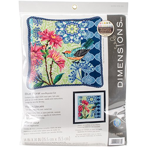 Dimensions DIM20085 Needlepoint Kit Blue Floral