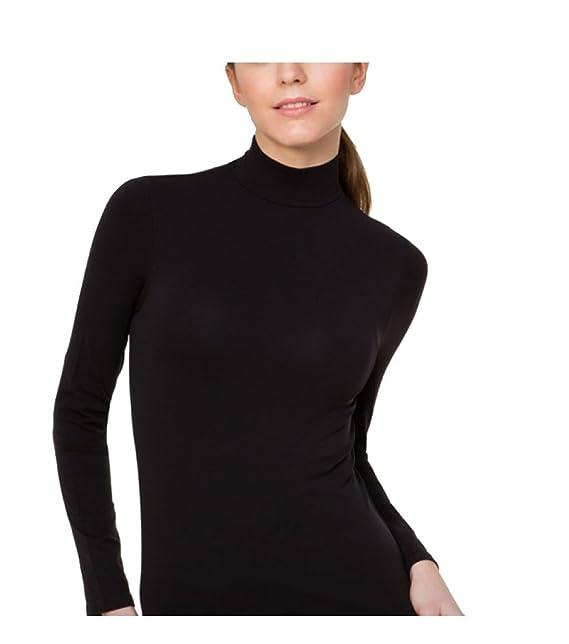 Bellissima - Camiseta de cuello alto y manga larga de microfibra para mujer, color y talla a elegir: Amazon.es: Ropa y accesorios