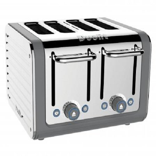 Dualit 4 slot Architect Toaster, Stainless steel with Grey trim, 46526