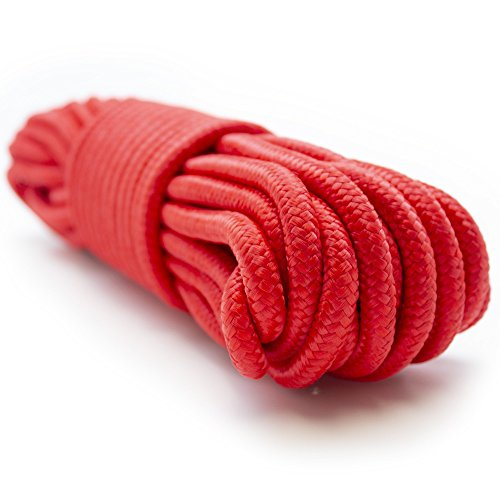 Emergency Zone 9mm (3/8 inch) Nylon Braided, 50 Foot, Multi-Purpose Rope. Red 1 ()
