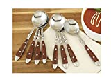 CHEFS Bistro Soup Spoons, Set of 8: woodgrain, set of 8
