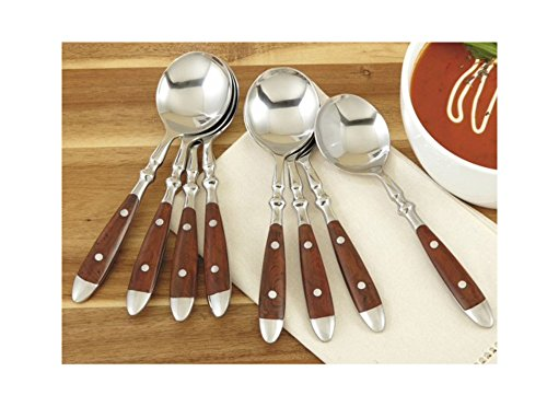 CHEFS Bistro Soup Spoons, Set of 8: woodgrain, set of 8 by CHEFS