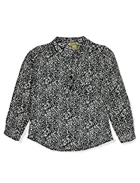 Mona Lisa Girls' Wild Times Button-Down Top