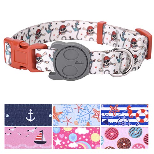 (PetANTastic Best Adjustable Small Dog Collar Durable Soft & Heavy Duty with Cool Summer Beach Design, Outdoor & Indoor use Comfort Dog Collar for Girls, Boys, Puppy, Adults)
