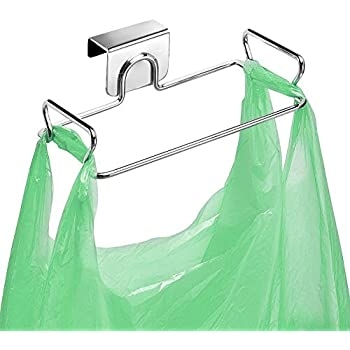 Amazon Com Large Stainless Steel Trash Bag Holder For