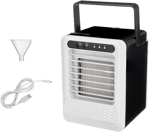 NUOBESTY Aire Acondicionado Portátil Ventilador de Escritorio Refrigerador de Aire Mini Purificador de Aire Portátil Humidificador para Escritorio de Oficina de Habitación: Amazon.es: Hogar