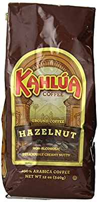 Kahlua Gourmet Ground Coffee, Hazelnut, 12 Ounce from White Coffee