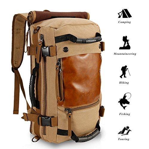 Ibagbar Canvas Backpack Travel Bag