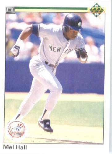 - 1990 Upper Deck # 458 Mel Hall New York Yankees - MLB Baseball Trading Card