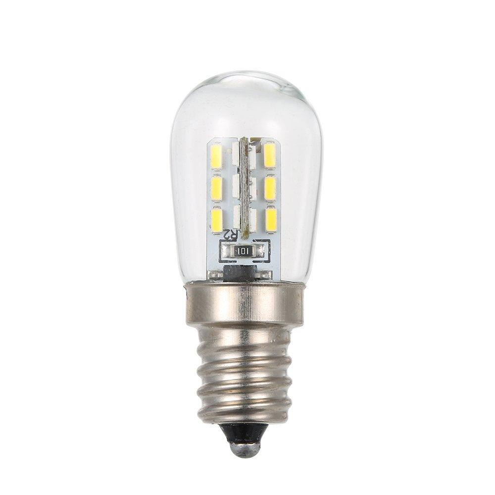 Lixada AC110V/220V LED Mini Refrigerator Light Fridge Lamp E12 Bulb Base Socket Holder SMD3014