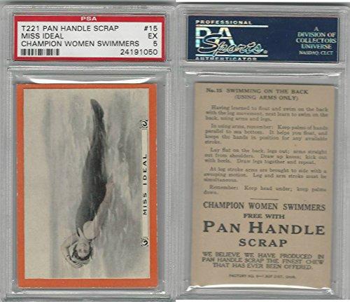 T221 Pan Handle Scrap, Champion Women Swimmers, 1910, #15, PSA 5 EX