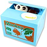 Mischievous Monkey Coin Bank For Kids - A Cute Unique Alternative To Piggy Banks - Delights With Realistic Movements and Adorable Designs - Perfect As Kids Birthday or Creative Presents