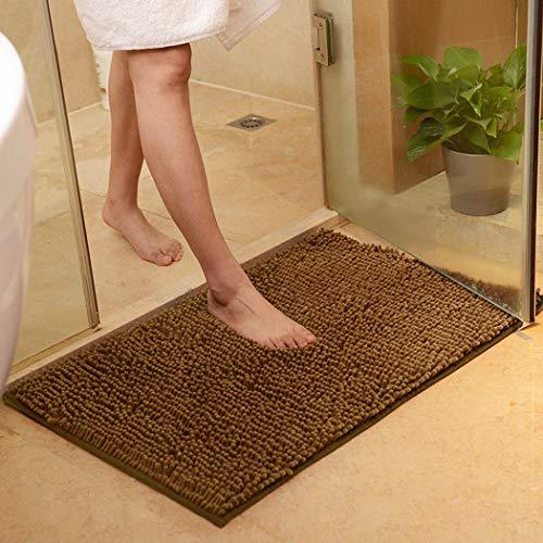Soft Chenille Bathroom Rug, 3 Sizes Non-Slip Super Absorption Durable Home Decor Shower Bath Carpets Pad from GenePeg