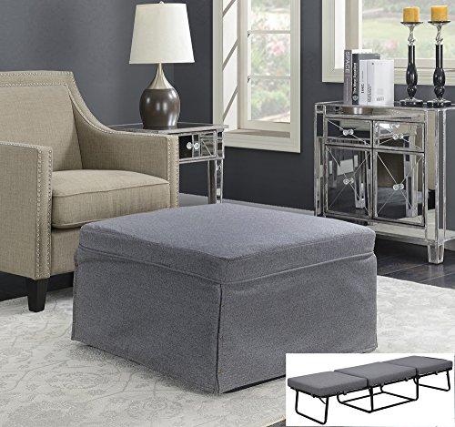 Folding Sofa Bed Sleeper: Gray Folding Convertible Sofa Bed Ottoman Couch Mattress