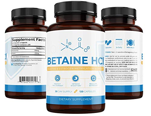 - UMZU: Betaine HCl - Digestive Support - 120 Capsules - Improve Gut Health and Function - Increase Hydrochloric Acid and Pepsin - All Natural Ingredients - Vegetarian Formula - Made in The USA