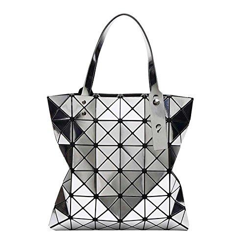 à à Pliage 6 Bandoulière Femmes Silver Bag 6 Sacs Main Sac Sacs CY Variété Lingge Géométrique Laser Sacs qxIaOqAw