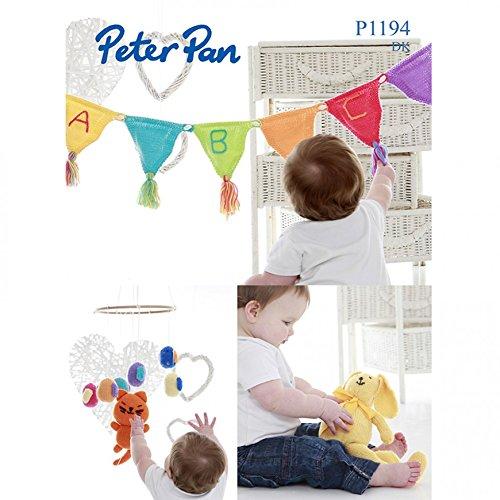Peter Pan Baby Bird Mobile, Rabbit & Bunting Knitting Pattern 1194 DK