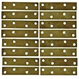 ProjectBasics 7/8 x 4-inch Brass Plated Mending Plates with Screws - 16-Pack