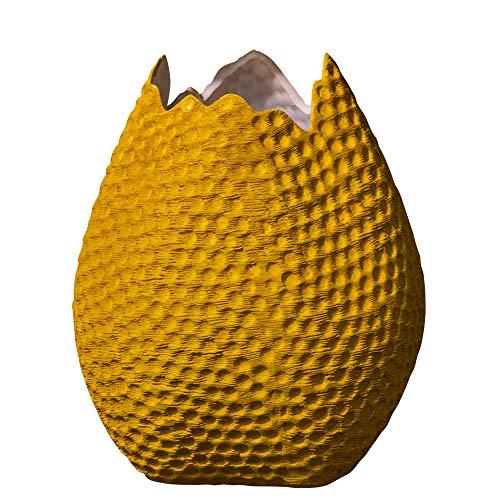Eclante OVO Ceramic Decorative Vase Yellow Color | 7.5