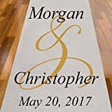 personalized aisle runner - Ampersand Personalized Aisle Runner