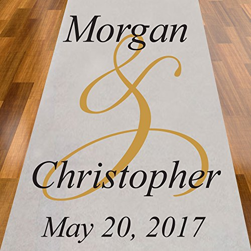 Ampersand Personalized Aisle Runner