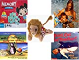 Childrens Gift Bundle - Ages 3-5 [5 Piece] - Ni Hao Kai-Lan Edition Memory Game - Arm Bands for Swimming Pug Design Toy - TY Beanie Baby - Roary the Lion - Walter the Farting Dog: Banned From the