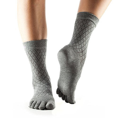 ToeSox Casual Crew Toe Socks (Fishnet Storm) Medium