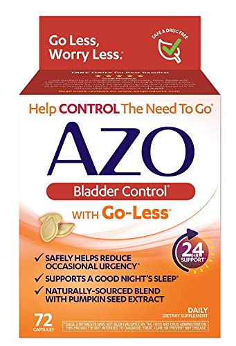 AZO Bladder Control® with Go-Less® Daily Supplement | Helps Reduce Occasional Urgency* | Helps Reduce Occasional Leakage Due to Laughing, Sneezing and Exercise††† | 110 Capsules (110 Count)