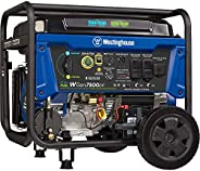Westinghouse WGen7500DF Dual Fuel Portable Generator 7500 Rated & 9500 Peak Watts, Gas or Propane Powered,