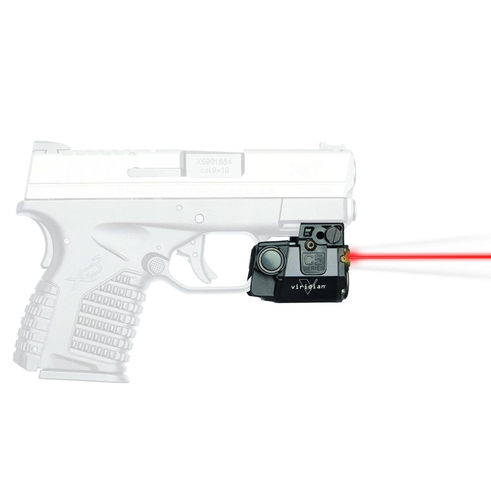 Viridian C5L-R Universal Red Laser Sight and Tac Light for Sub-Compact Handgun Pistols, ECR Instant On Technology by Viridian Weapon Technologies