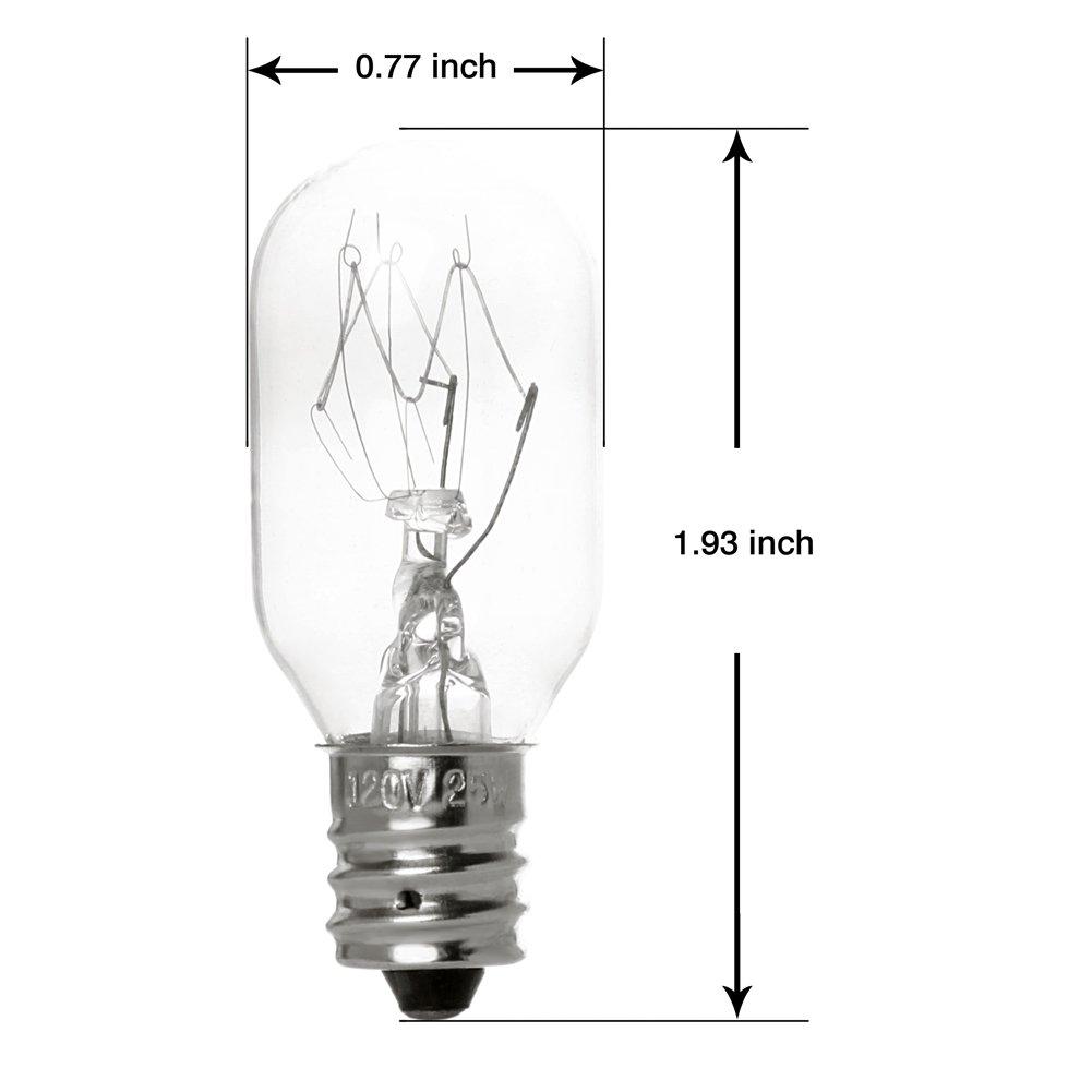 120 Volt Bulk Bulb Replacements Oumai 6 Pack 25 Watt Bulbs for Scentsy Plug-In Nightlight Wax Warmers Home Fragrance Wax Diffusers /& Salt Lamps