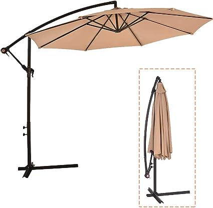 WUFF Bluu 10ft Patio Offset Cantilever Umbrella Base Market Umbrella Base Outdoor Umbrella Cantilever Umbrella Base