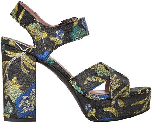 by Circus Brocade Maria Women's Metallic Heeled Sam Edelman Multi Sandal Black Floral TwawqRgZ