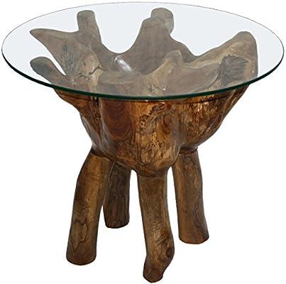 KMH, Mesa * Root 60 * DE Madera de Teca – raíz Diámetro 60 cm (# 400195): Amazon.es: Juguetes y juegos