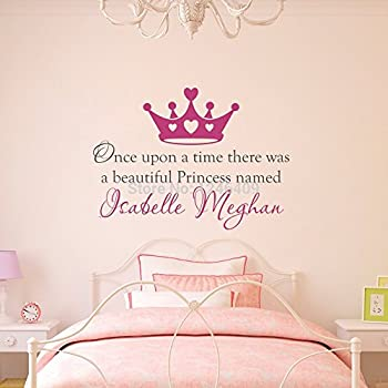 Charmant Custom Made Once Upon A Time Personalized Name Princess Crown Wall Decal  Wall Stickers Quotes Art
