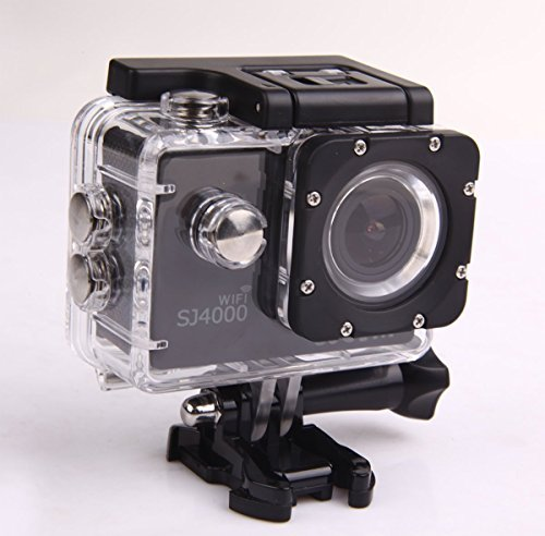SJCAM Original SJ4000 WiFi Version Full HD 1080P 12MP Diving Bicycle Action Camera 30m Waterproof Car DVR Sports DV (Black)