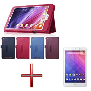 "XMY Colour Purple Holder Leather Cuero Case Cover cubierta de la caja + Film por 8"" Acer Iconia One 8 B1-820 Tablet new"